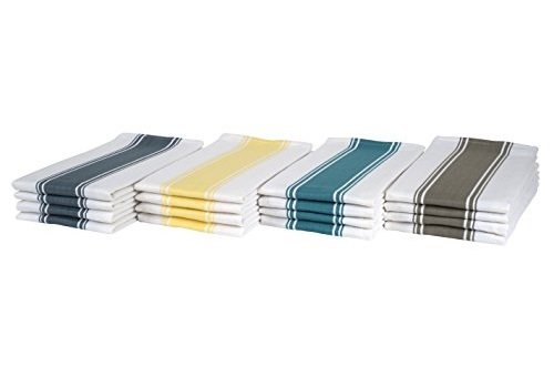Multiple Folded Colored Kitchen Towels